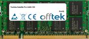 Satellite Pro U400-13D 4GB Module - 200 Pin 1.8v DDR2 PC2-6400 SoDimm