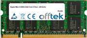 iMac 2.0GHz Intel Core 2 Duo - (20-Inch) 2GB Module - 200 Pin 1.8v DDR2 PC2-5300 SoDimm