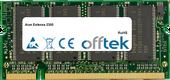 Extensa 2300 1GB Module - 200 Pin 2.5v DDR PC333 SoDimm