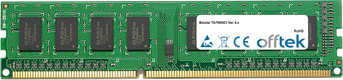 TA790XE3 Ver. 6.x 4GB Module - 240 Pin 1.5v DDR3 PC3-10664 Non-ECC Dimm