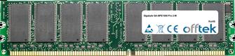 GA-8IPE1000 Pro 2-W 1GB Module - 184 Pin 2.5v DDR266 Non-ECC Dimm
