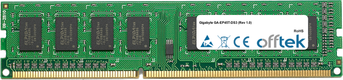 GA-EP45T-DS3 (Rev 1.0) 4GB Module - 240 Pin 1.5v DDR3 PC3-10664 Non-ECC Dimm