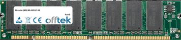 MS-6309 V2.0B 512MB Module - 168 Pin 3.3v PC133 SDRAM Dimm
