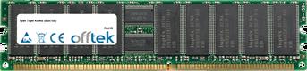 Tiger K8WS (S2875S) 2GB Module - 184 Pin 2.5v DDR400 ECC Registered Dimm (Dual Rank)