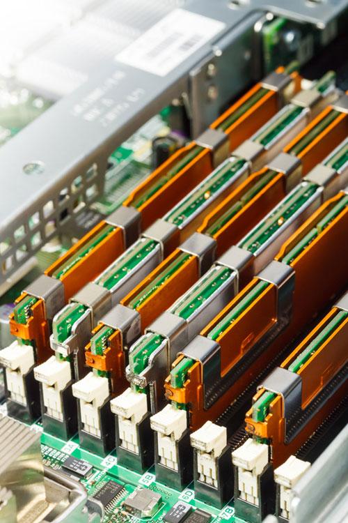 Banks of server ram