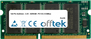 144 Pin SoDimm - 3.3V - SDRAM - PC133 (133Mhz) 512MB Module