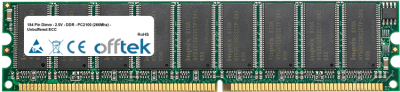 184 Pin Dimm - 2.5V - DDR - PC2100 (266Mhz) - Unbuffered ECC 512MB Module