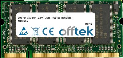 200 Pin SoDimm - 2.5V - DDR - PC2100 (266Mhz) - Non-ECC 1GB Module