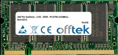 200 Pin SoDimm - 2.5V - DDR - PC2700 (333Mhz) - Non-ECC 512MB Module