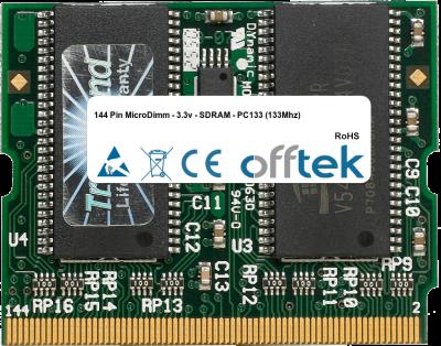 144 Pin MicroDimm - 3.3v - SDRAM - PC133 (133Mhz) 256MB Module