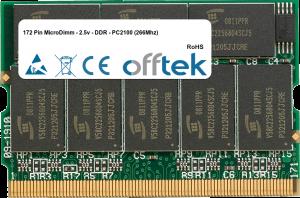172 Pin MicroDimm - 2.5v - DDR - PC2100 (266Mhz) 256MB Module