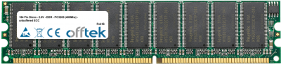 184 Pin Dimm - 2.6V - DDR - PC3200 (400Mhz) - unbuffered ECC 1GB Module