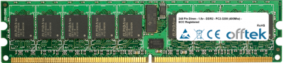 240 Pin Dimm - 1.8v - DDR2 - PC2-3200 (400Mhz) - ECC Registered 1GB Module