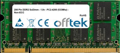 200 Pin DDR2 SoDimm - 1.8v - PC2-4200 (533Mhz) - Non-ECC 2GB Module