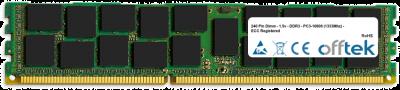 240 Pin Dimm - 1.5v - DDR3 - PC3-10600 (1333Mhz) - ECC Registered 1GB Module