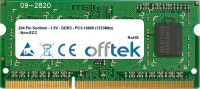 204 Pin Sodimm - 1.5V - DDR3 - PC3-10600 (1333Mhz) - Non-ECC 4GB Module