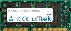 144 Pin SoDimm - 3.3V - SDRAM - PC100 (100Mhz) 256MB Module