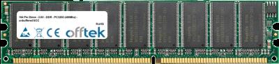 184 Pin Dimm - 2.6V - DDR - PC3200 (400Mhz) - unbuffered ECC 512MB Module