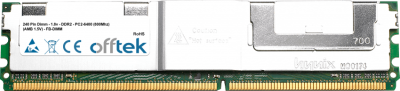 240 Pin Dimm - 1.8v - DDR2 - PC2-6400 (800Mhz) (AMB 1.5V) - FB-DIMM  2GB Module