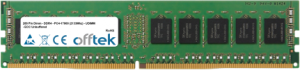 288 Pin Dimm - DDR4 - PC4-17000 (2133Mhz) - UDIMM - ECC Unbuffered 4GB Module