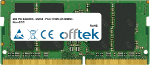 260 Pin SoDimm - DDR4 - PC4-17000 (2133Mhz) - Non-ECC 16GB Module