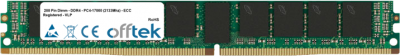 288 Pin Dimm - DDR4 - PC4-17000 (2133Mhz) - ECC Registered - VLP 16GB Module