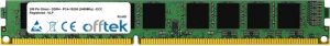 288 Pin Dimm - DDR4 - PC4-19200 (2400Mhz) - ECC Registered - VLP 8GB Module