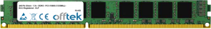 240 Pin Dimm - 1.5v - DDR3 - PC3-10600 (1333Mhz) - ECC Registered - VLP 16GB Module