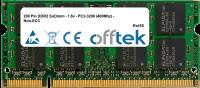 200 Pin DDR2 SoDimm - 1.8v - PC2-3200 (400Mhz) - Non-ECC 256MB Module
