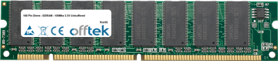 168 Pin Dimm - SDRAM - 100Mhz 3.3V Unbuffered 64MB Module