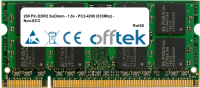 200 Pin DDR2 SoDimm - 1.8v - PC2-4200 (533Mhz) - Non-ECC 512MB Module