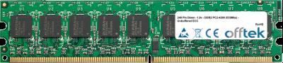 240 Pin Dimm - 1.8v - DDR2 PC2-4200 (533Mhz) - Unbuffered ECC 256MB Module