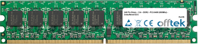240 Pin Dimm - 1.8v - DDR2 - PC2-6400 (800Mhz) - Unbuffered ECC 512MB Module