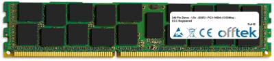 240 Pin Dimm - DDR3 - PC3-10600 (1333Mhz) - ECC Registered 1GB Module
