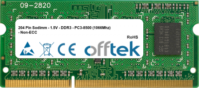 204 Pin Sodimm - 1.5V - DDR3 - PC3-8500 (1066Mhz) - Non-ECC 4GB Module