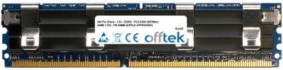240 Pin Dimm - 1.8v - DDR2 - PC2-5300 (667Mhz) (AMB 1.5V) - FB-DIMM (APPLE APPROVED) 2GB Module