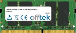 260 Pin SoDimm - DDR4 - PC4-17000 (2133Mhz) - Non-ECC 8GB Module