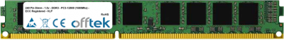 240 Pin Dimm - 1.5v - DDR3 - PC3-12800 (1600Mhz) - ECC Registered - VLP 8GB Module
