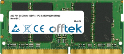 260 Pin SoDimm - DDR4 - PC4-21300 (2666Mhz) - Non-ECC 4GB Module