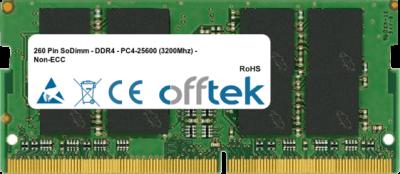 260 Pin SoDimm - DDR4 - PC4-25600 (3200Mhz) - Non-ECC 8GB Module