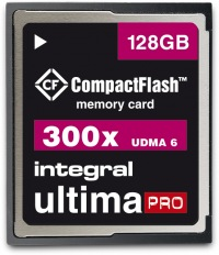 Integral Ultima-Pro Compact Flash 300X 128GB Card