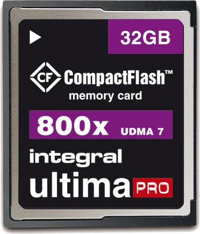 Integral Ultima-Pro Compact Flash (800x) 32GB Card