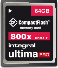 Integral Ultima-Pro Compact Flash 800X 64GB Card