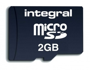 Integral Transflash/Micro SD Card (with Adaptor) 2GB Card