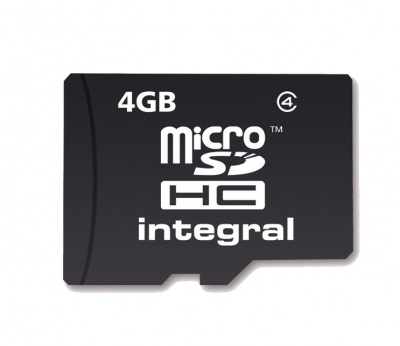 Integral Micro SDHC (No Adaptor) 4GB Card (Class 4)