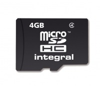 Integral Micro SDHC (No Adaptor) 4GB Card (Class 4)