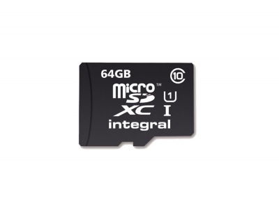 Integral Micro SDXC (with Adaptor) 64GB Card