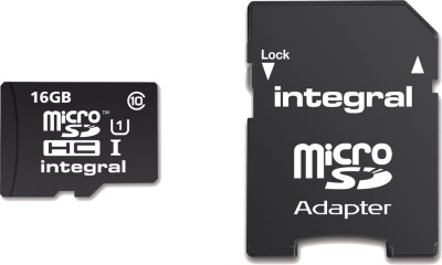 Integral Micro SDHC (with Adaptor) (Class 10 - 40x) 16GB Card