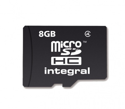 Integral Micro SDHC (No Adaptor) 8GB Card (Class 4)
