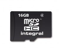 Integral Micro SDHC (No Adaptor) 16GB Card (Class 4)